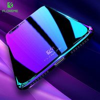 FLOVEME Aurora Gradient Case for iPhone 6 6S 7 Plus Clear Blue Ray Phone Cases for Samsung S7 Edge S8 Huawei Mate 9 Redmi 4 Pro