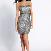 PRIMA Glitz GX1308 Sequin Homecoming Cocktail Dress
