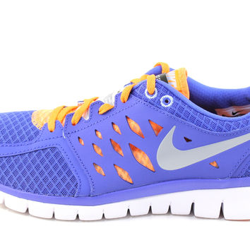 Nike Women's Flex 2013 Run Blue/Silver/White Running Shoes 580440 500