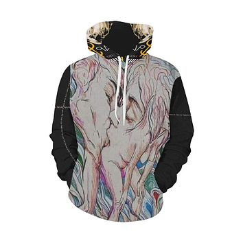 Sexcii Illusion All Over Print Hoodie (for Men)