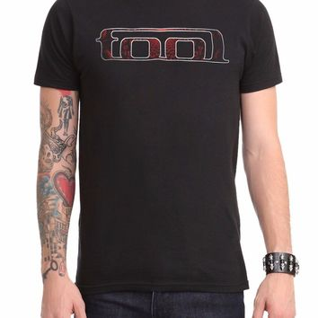 "Tool Red Fill TOOL Logo Red Eyes T-Shirt Black NWT 100% Authentic ""TOOL"" Product"