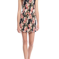 GOOD LUCK GEM Floral Bodre Slip Dress
