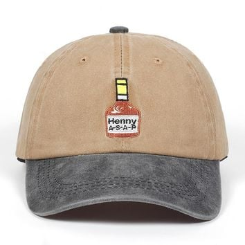 Trendy Winter Jacket Washed Henny ASAP Baseball Cap Embroidery For Men Women Brand dad hat Cotton% Hip Hop snapback cap golf hats Bone Garros AT_92_12