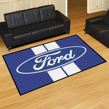 Ford Oval with Stripes 5'x8' Rug