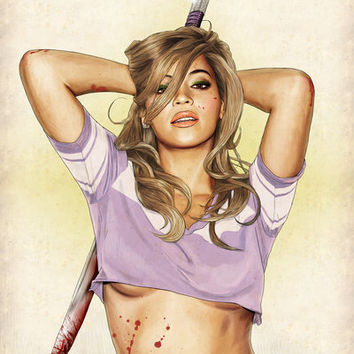 Slaughterhouse Starlets: Beyoncé Art Print by Keith P. Rein