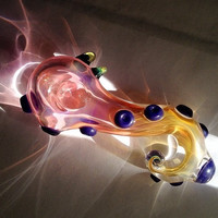 MTO Color Changing Tentacle Glass Pipe by Novaglassworks on Etsy