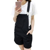 Girls Overalls Fashion Candy Color College Wind Slim Strap Shorts Casual  Bodysuit Women Loose  Straps