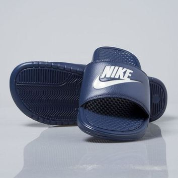 Nike Benassi Just Do It Mens Sandals Slippers Slides 343880-403 Blue