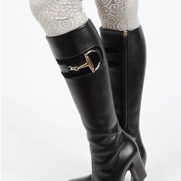 LEG WARMER LACE BOOT TOPPER PEARL ACCENT
