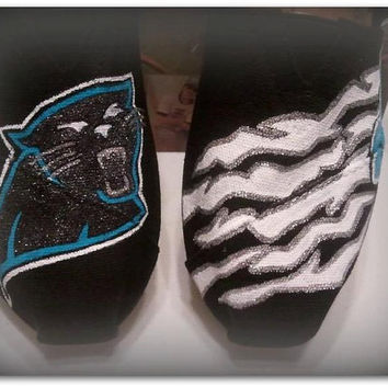 Carolina Panthers Custom Painted TOMS