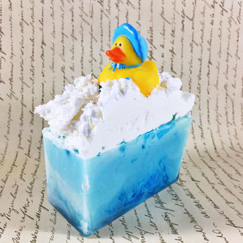 From My Shower to Yours / Baby Shower Themed Soap / Duckies / Customizable