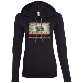 California Republic #WineCountryStrong 887L Anvil Ladies' LS T-Shirt Hoodie