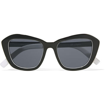 Le Specs Hollywood Boulevard D-frame acetate and metal sunglasses – 50% at THE OUTNET.COM