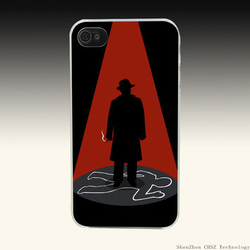 292O criminal_person_hat_cigarette_red Hard Clear Case Transparent Cover for iPhone 4 4s 5 5s SE 6 6S Plus