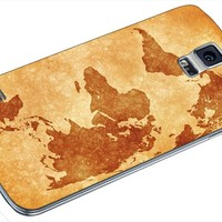 World Map Vintage Samsung Galaxy S4 S5 S6 Case (samsung s5 white)