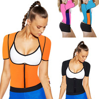 Hot Body Shapers Weight Loss T-shirt Hot Shapers Stretch Neoprene Slimming Vest  Fitness Body Shaper Control Vest Tops Women
