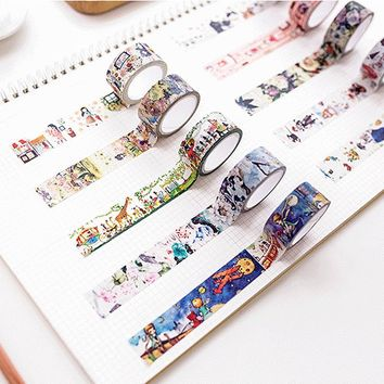2cm*7m Princess Alice Cat washi tape DIY decorative scrapbooking sticker planner masking adhesive tape label school supplies