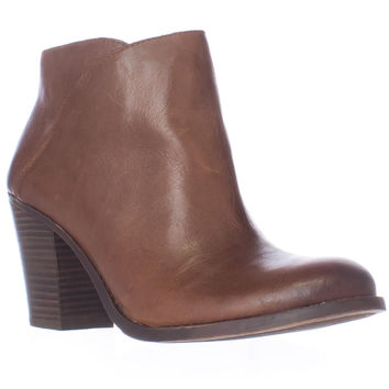 Lucky Brand Eesa Block Heel Pull On Ankle Booties - Chipmunk
