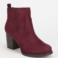 Soda Indeed Western Womens Boots Wine  In Sizes