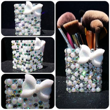 Bling Makeup Brush Holder Cup