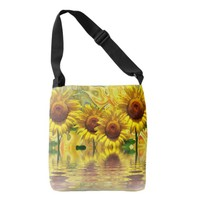 Awesome Sunflower Design Crossbody Bag