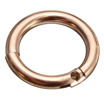 ac ICIKO2Q 1.2mm Titanium steel Lip Nose Ear Hoop Body Piercing Ring Rose Gold Internal Diameter:8Mm