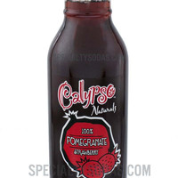 Calypso Naturals 100% Pomegranate Strawberry 12oz Glass Bottle