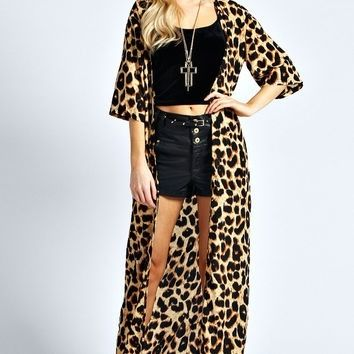 Leopard Long Duster/Cardigan from The Wild Orchid