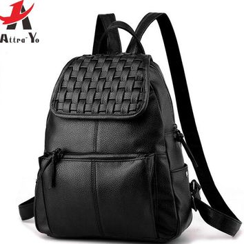 Backpack women leather Backpack designer women travel bags school bags high quality bag