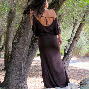 Bohemian Butterfly Maxi Dress - Romantic, jersey, Sexy, off the shoulder, Feminine, Hippie, Bohemian Princess, wings