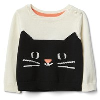 Halloween kitten crew sweater | Gap