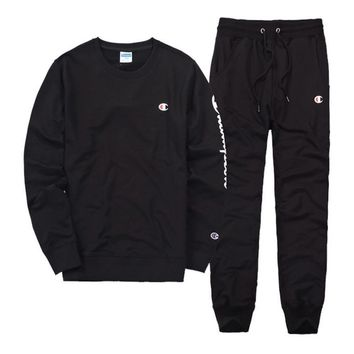 Champion Casual Pullover Sweater Pants Trousers Set Two Piece 1