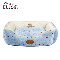 Pet Dog Kennel Four Seasons In Common Use Detachable Cushions Pet Nest Blue Pink Dot Lace Small Dogs House Kennels