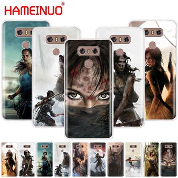 HAMEINUO Rise Of The Tomb Raider case phone cover for LG G7 Q6 G6 MINI G5 K10 K4 K8 2017 2016 X POWER 2 V20 V30 2018