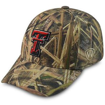 Licensed Texas Tech Red Raiders NCAA Blade One Fit Youth Mossy Oak Camoflage Hat Cap TOW KO_19_1