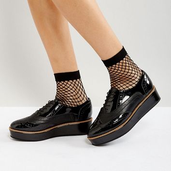 ASOS MACAROON Flatform Lace Up Shoes at asos.com