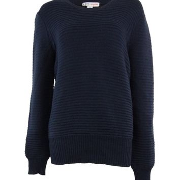 Made for Impulse Women's Classic Oversized Crewneck Solid Sweater