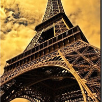 Eiffel Tower in Paris France Wall Decor Picture on Stretched Canvas, Ready to Hang!.