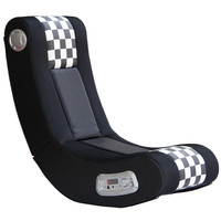 Michael Anthony Furniture X-Rocker Drift Black/White Checkered Flag Gaming Chair
