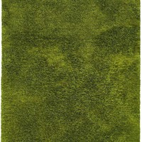 Cosmo Green  Solid  Shag Rug