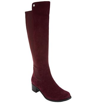 """As Is"" Marc Fisher Incept Wide Calf Leather Tall Boots"