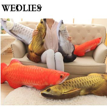 30/60cm New Design Fish Shape Decorative Cushion Large Throw Pillow Home Adorn Emulational Toys Children's Birthday Present