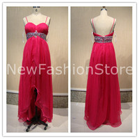 A Line Sweetheart Neckline Sleeveless Beading Floor Length Party Prom Dress