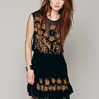 Free People Womens Garden Bloom Embroidered Dress - Black M