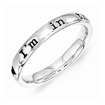 Sterling Silver Lyric I'm In The Mood For Love Ring by Stackable Expressions, Best Quality Free Gift Box Satisfaction Guaranteed