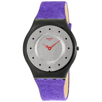Swatch Honeycomb Silver Dial Ladies Casual Watch SFB144