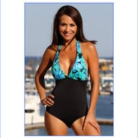 Turquoise Bay Halter One Piece