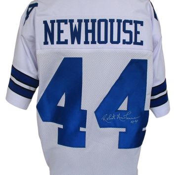 Robert Newhouse Signed Autographed Dallas Cowboys Football Jersey (JSA COA)