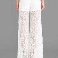 Alexis Basel Lace Pants in White lace
