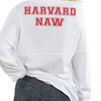 Harvard Naw - Long Sleeve Football Tee